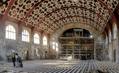 Battersea Arts Centre After the Fire: Grand Hall Ceiling