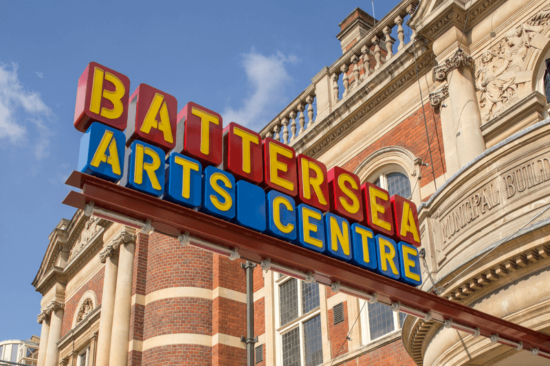 Colorful Battersea Arts Centre Sign
