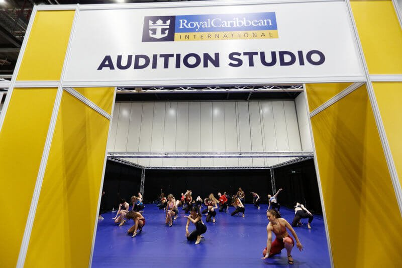 Royal Caribbean International audition studio at MOVE IT Dance Festival