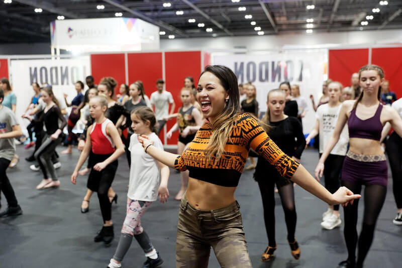 Katya Jones teaches a dance class at Move IT Dance Festival