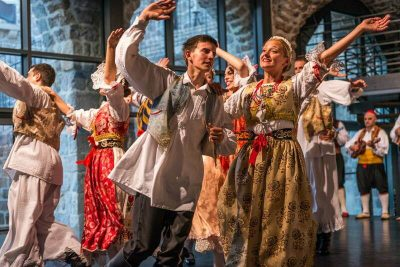Croatian dancers in traditional costume