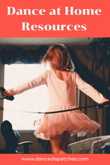 Pinterest Pin. Dance at Home Resources