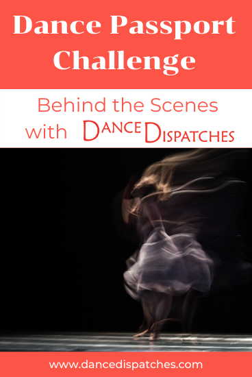 Blurred dancer on Dance Passport: Behind the Scene Pinterest pin