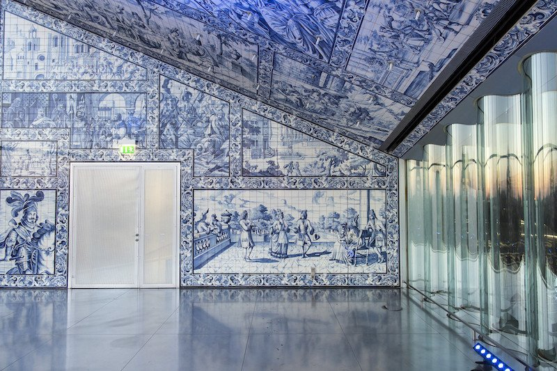 Azulejos and windows in Casa da Musica, Porto